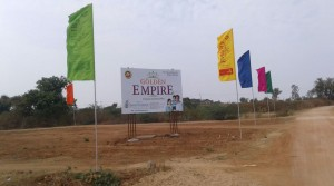 Golden Empire for OPEN Plot RESIDENTIAL LAND At Shadnagar Besides 600 Flats Gated Community