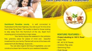 BUY FARM LAND PLOTS IN GACHIBOWLI PARADISE COUNTY NEAR PATANCHERU