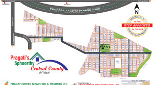 Open plots for sale in Pragati's Sphoorthy at yadagirigutta